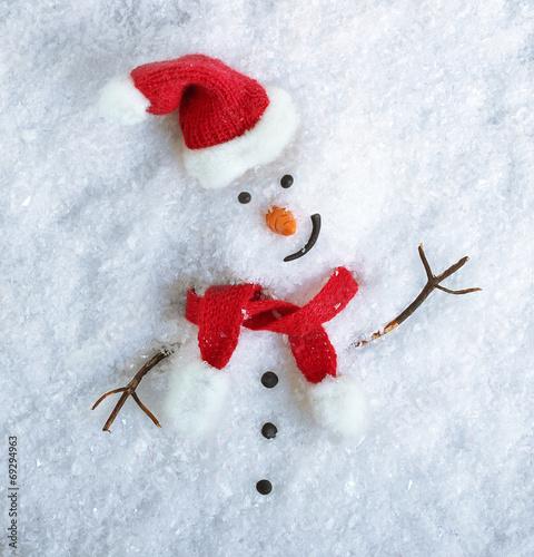 Snowman on snow - 69294963