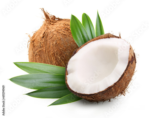 Papiers peints Condiment Coconut with palm leaves