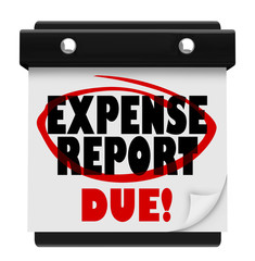 Expense Report Due Date Calendar Deadline Submit