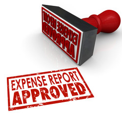 Expense Report Approved Stamp Submit Enter Costs Reimbursement