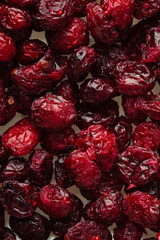 Diet healthy food. Dried cranberries cranberry fruit