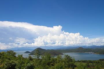 Beautiful sky and mountain