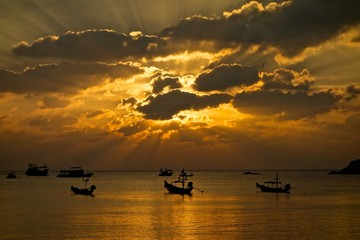 Sunset on the Samui island
