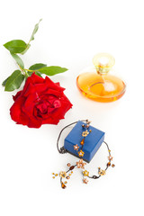 necklace perfume and rose