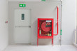 Fire exit door and fire extinguish equipment - 69296999