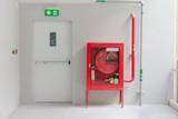 Fire exit door and fire extinguish equipment