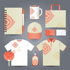 Stationery set design / Gift set template.