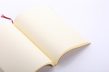 open blank paper page isolated