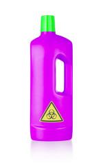 Plastic bottle cleaning-detergent, biohazard