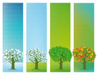 Vier Jahreszeiten Banner
