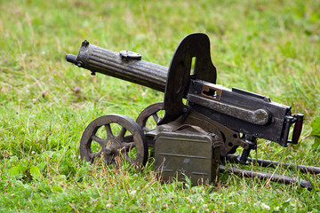the Maxim machine gun