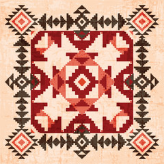 Absract geometric ornament in american indian style