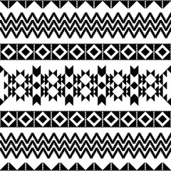 Absract geometric pattern in ethnic style