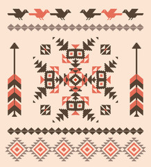 Decorative pattern in american indian style