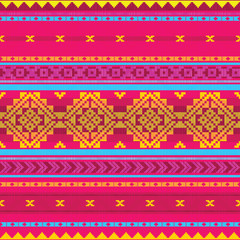 Ethnic abstract striped pattern