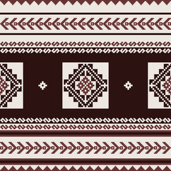 Geometric textile pattern in ethnic style