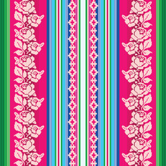 South american traditional textile seamless pattern