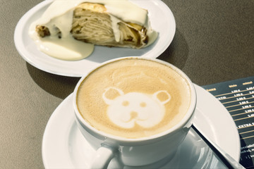 Coffee with Apfelstrudel