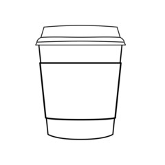 coffee cup outline vector