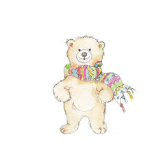 Watercolor polar bear