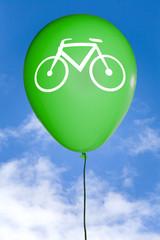 Grüner Luft Ballon