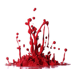 Red paint splashing