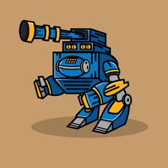 Blue Cannon Robot