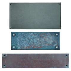 Metal plates isolated