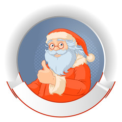 Santa with copy space logo