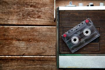 Vintage radio and Cassette Tape