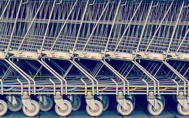 Shopping cart pattern. Retro look