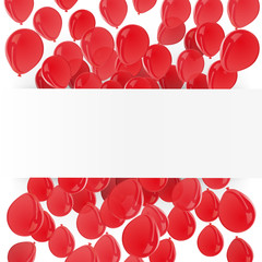 Ballons de baudruche rouges