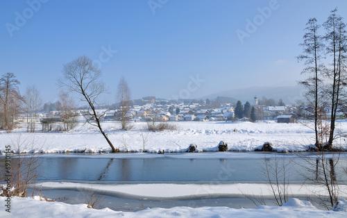 canvas print picture Urlaubsort Grafenwiesen in der Oberpfalz in Bayern