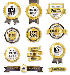 Golden Vector Commercial Labels