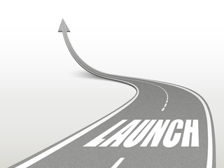 launch word on highway road