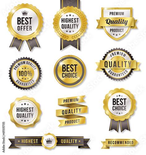 Golden Vector Commercial Labels