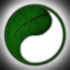 stylize mark of green leaf