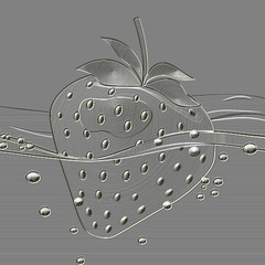 Strawberry metal relief generated texture