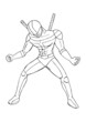 Outline illustration of a superhero