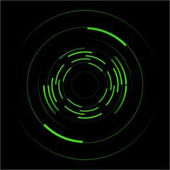 Abstract vector of green circles