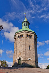 Valberg watchmen tower (1853) in Stavanger, Norway