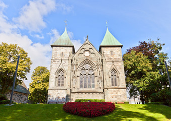 East facade of Stavanger Cathedral  (XIII c.). Norway