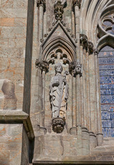 Saint Swithun sculpture of Stavanger Cathedral, Norway