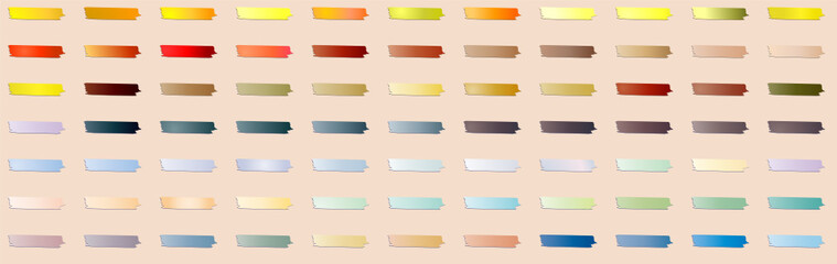 A set of 77 gradients sticky scrip