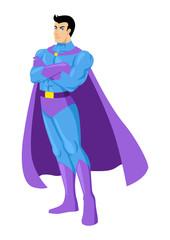Cartoon illustration of a superhero posing