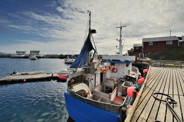 Norwegia, Lofoty, Kuter do połowu ryb