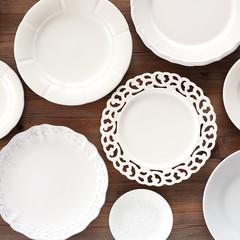White plates
