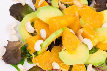 Close up of fitness salad.