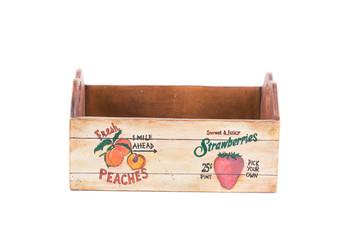 Empty fruit wooden box.