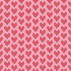 geometric pattern knitting heart